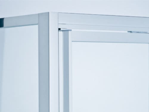 Framed shower screen door handle