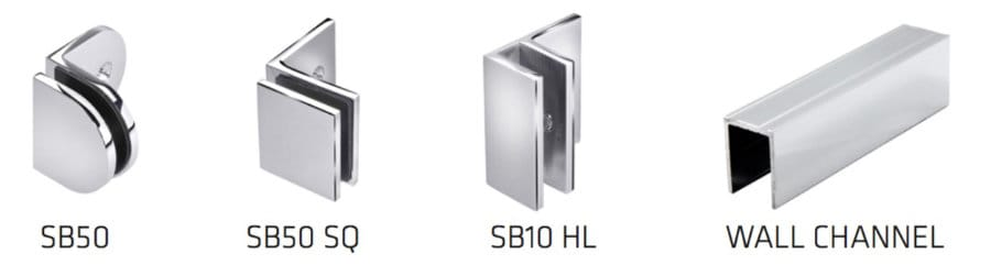 Precision Shower Screens Brackets & wall channel