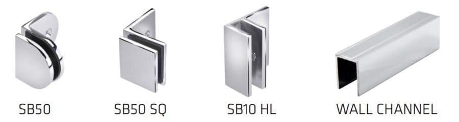 Precision Shower Screens Brackets & wall channel