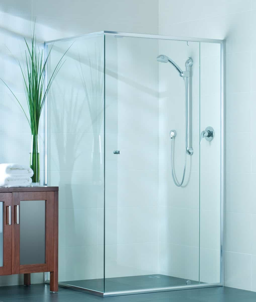 Precision Shower Screens Bathroom semi-framed shower screen