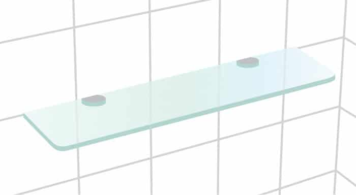 Precision Shower Screens Glass Shelving - Recto